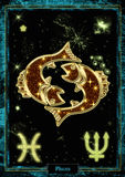 Astrologische Illustration: Fische Stockfoto