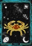 Astrologische Illustration: Krebs Stockbilder