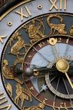 Astrologische klok stock afbeelding