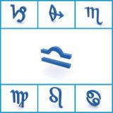 Astrologische symbolen Stock Foto's