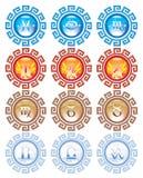 Astrologische Zeichen lizenzfreies stockbild