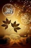 Astrologische Zeichen Jungfrau vektor abbildung