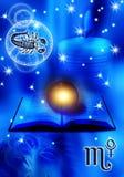 Astrologischer Zeichen Skorpion lizenzfreie abbildung