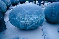 Astrologisches Monument des Stiers in Lumpini-Park, Bangkok Stockbild