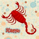 Astrologisches Sternzeichen Scorpius Teil eines Satzes Horoskopzeichen Lizenzfreies Stockfoto