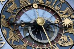 astrologisk klocka Fotografering för Bildbyråer