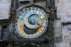 Astrologisk klocka, gammal stadfyrkant, Prague Royaltyfria Bilder