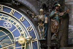 Astrologisk klocka, gammal stadfyrkant, Prague Royaltyfri Fotografi
