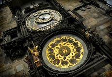 astrologisk klocka prague Arkivfoto