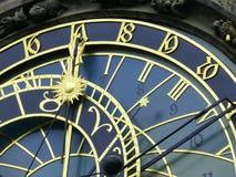 astrologisk klocka prague Royaltyfri Fotografi