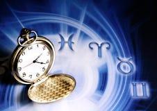 astrologisk tid Arkivfoton