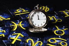 astrologisk tid Arkivbilder
