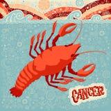 Astrologisk zodiakteckencancer Del av en uppsättning av horoskoptecken Arkivbilder