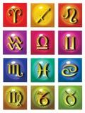 astrologiska symboler Arkivfoto