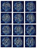 astrologiska tecken stock illustrationer