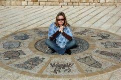 astrologiskt hjul arkivfoto