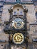 Astrologiskt klockatorn, gammal tornfyrkant, Prague, Tjeckien Arkivfoto