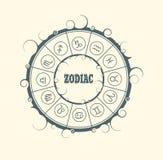 Astrologisymboler i cirkel Royaltyfri Fotografi