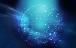 Astrology and alchemy sign background illustration Royalty Free Stock Photos