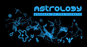 Astrology. Aspects Of The Planets Stock Photography