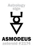Astrology: asteroid ASMODEUS Royalty Free Stock Images