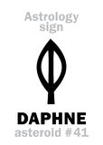Astrology: asteroid DAPHNE Royalty Free Stock Photos