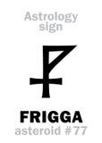 Astrology: asteroid FRIGGA Royalty Free Stock Photos