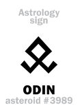 Astrology: asteroid ODIN Royalty Free Stock Image