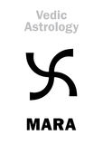 Astrology: astral planet MARA Royalty Free Stock Images