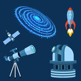 Astrology astronomy icons planet science universe space radar cosmos sign universe vector illustration. Stock Photography