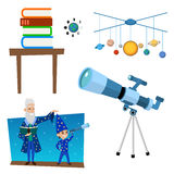 Astrology astronomy icons planet science universe space radar cosmos sign universe vector illustration. Stock Photos