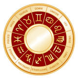astrology background crimson wheel Στοκ Εικόνες