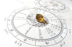 Astrology chart Quartz Natural stone Crystal Natal chart royalty free stock image