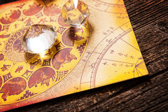 Astrology with crystals Stock Photos