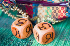 Astrology cubes royalty free stock photography
