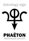 Astrology: destroyed planet PHAETON Stock Photo