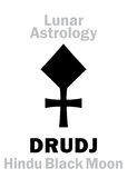 Astrology: DRUDJ Royalty Free Stock Photos