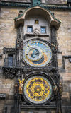 Astrology and esotericism. Ancient astronomical clock in Prague, Czech Republic Stock Image