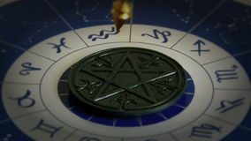 Astrology and fortune telling stock video footage