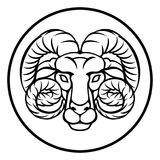Aries Astrology Horoscope Zodiac Sign vector illustration