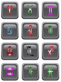 Astrology Icon Buttons Royalty Free Stock Photo