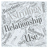 Astrology improves relationships word cloud concept  background Royalty Free Stock Image