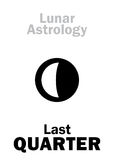 Astrology: Last QUARTER of MOON Stock Photo