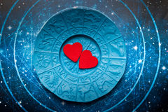 Astrology and love stock illustration