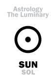 Astrology: Luminary SUN (SOL). Astrology Alphabet: SUN (SOL), The Luminary. Hieroglyphics character sign (single symbol&#x29 Stock Photography