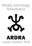 Astrology: Lunar station ARDRA (nakshatra) Stock Photo