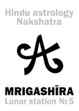 Astrology: Lunar station MRIGASHIRA (nakshatra) Stock Photo