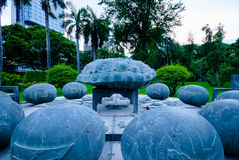 Astrology monument in Lumphini park, Bangkok Royalty Free Stock Photo