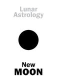 Astrology: New MOON Royalty Free Stock Photography