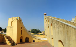 Old astrology observatory in Jaipur India Royalty Free Stock Images